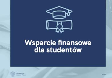 Zachęcamy do zapoznania się z informacjami na temat wsparcia finansowego dla studentów.